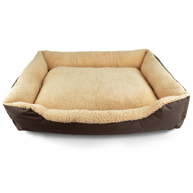 Deluxe Soft Washable Dog Cat Pet Warm Basket Bed Brown Xl Image 3