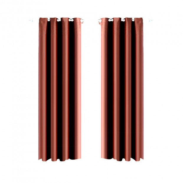1 Pair Blockout Curtains Panels Chocolate 240x230cm