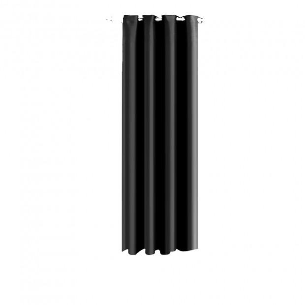 Single Panel Blockout Curtains Panels Black 140x230cm