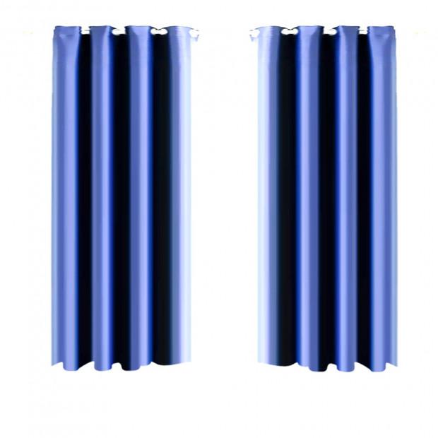 1 Panel Blockout Curtains Panels Blue 230 X 300cm