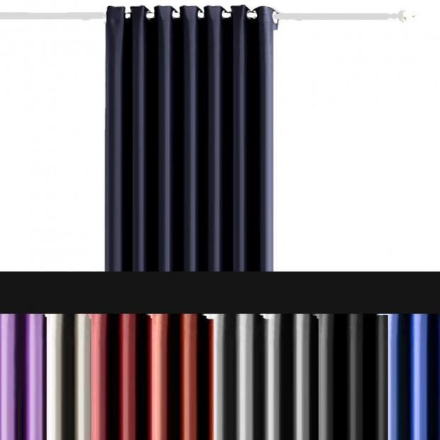 Single Panel Blockout Curtains Panels Black240x230cm