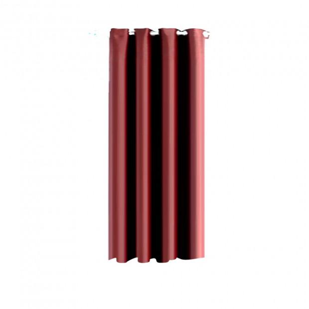 Single Panel Blockout Curtains Panels Burgundy 180x230cm