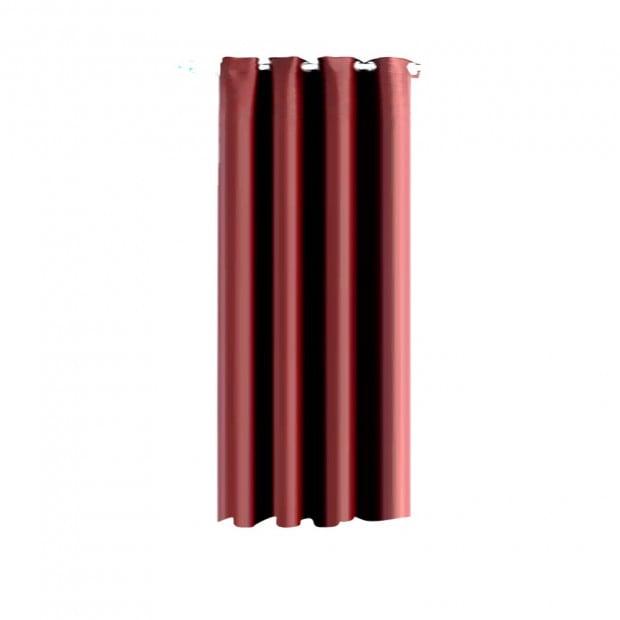 Single Panel Blockout Curtains Panels Burgundy 140x230cm