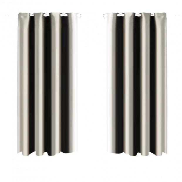 1 Pair Blockout Curtains Panels Beige 140x230cm