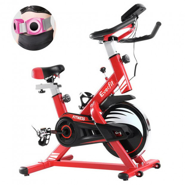 Exercise Spin Bike Cycling Fitness Home Workout Gym Equipment Red