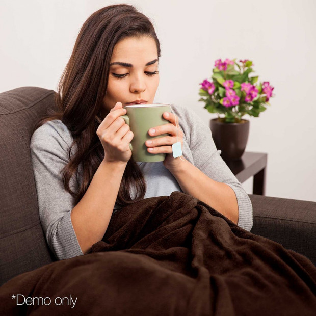 Electric Throw Blanket - Chocolate Image 9