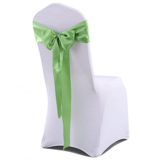 20 Pcs Wedding Party Event Home Decoration Satin Chair Sashes Green