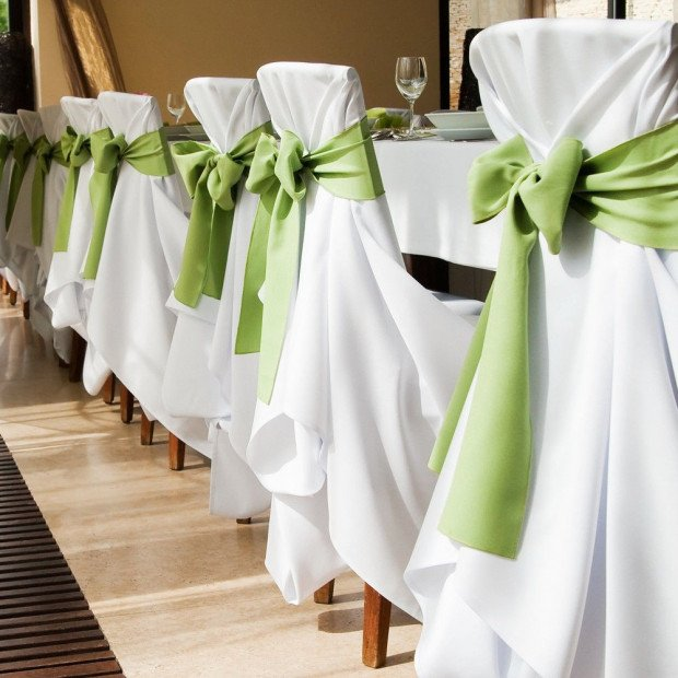 20 Pcs Wedding Party Event Home Decoration Satin Chair Sashes Eggplant Image 5