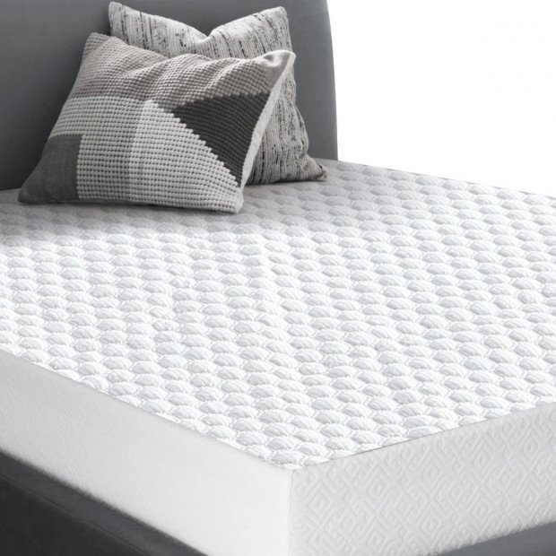 Dreamz Waterproof Fully Fitted Cooling Mattress Protector - Double
