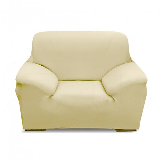Easy Fit Stretch 1-seater Couch Sofa Slipcover Cream