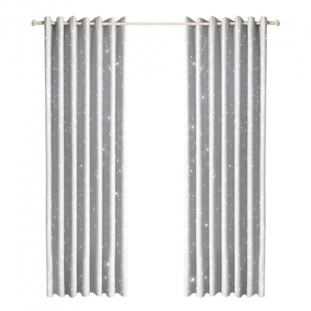 Star Blockout Curtains 3 Layers Eyelet Room Darkening 140x230cm
