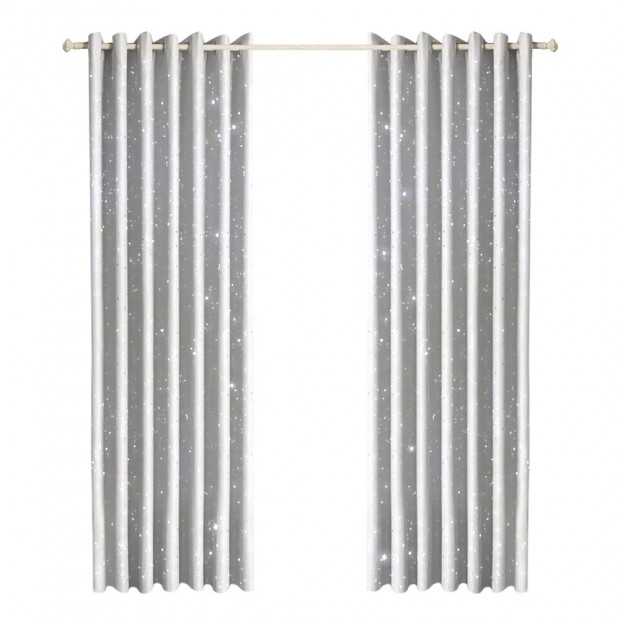 Star Blockout Blackout Curtains 3 Layers Eyelet - 240x180cm
