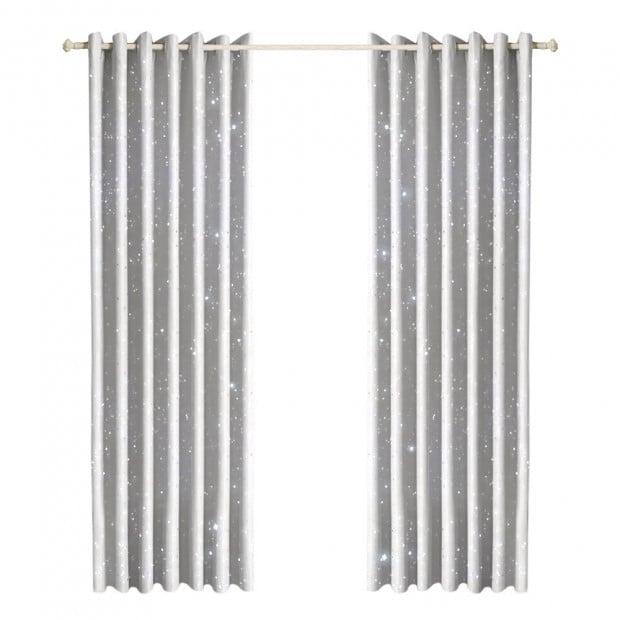 Star Blockout Blackout Curtains 3 Layers Eyelet - 180x230cm