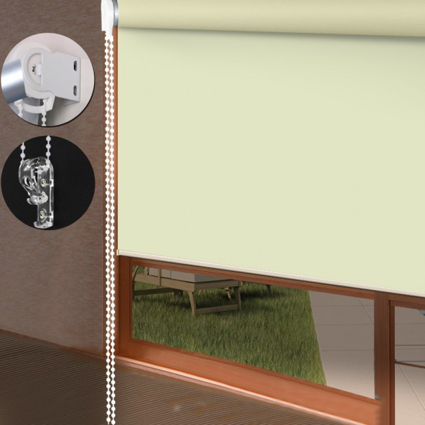 Quality Modern 100% Blockout Roller Blinds Cream 120 X 210cm