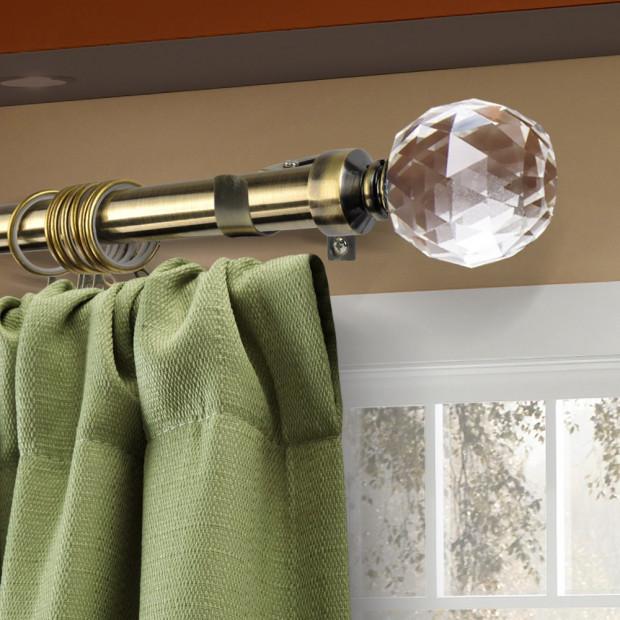 Top Quality New Curtain Rod Pole Rail Set Extendable 170-300cm