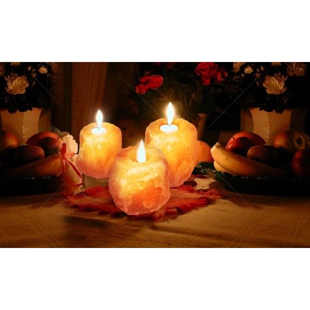 4x Himalayan Salt Tealight Candle Holder