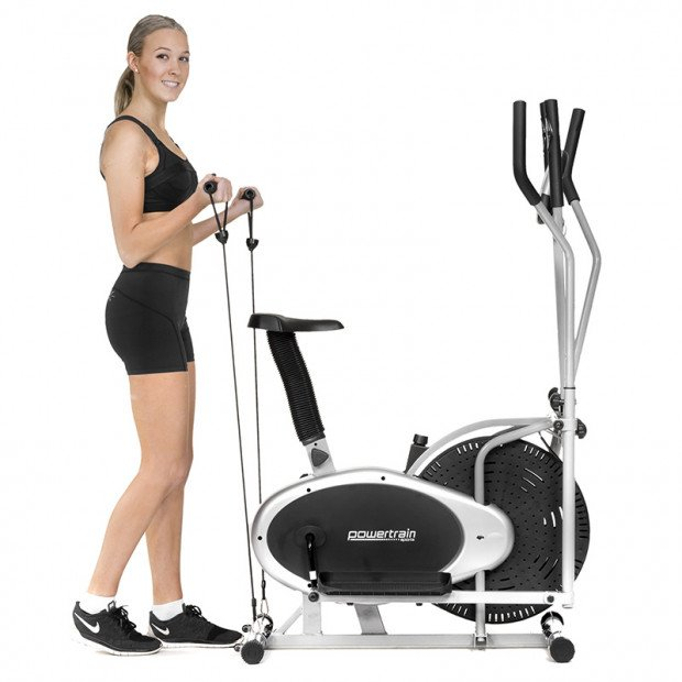 Powertrain 3-in-1 Elliptical cross trainer bike with Resistance Bands Image 1