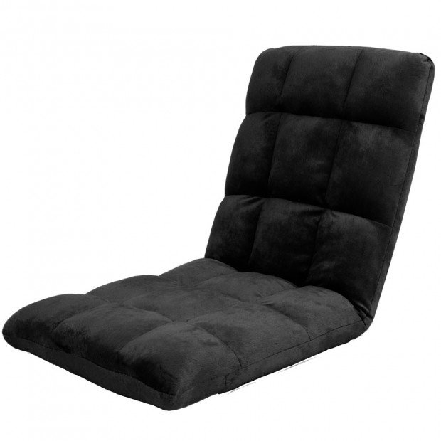 Adjustable Cushioned Floor Gaming Lounge Chair 99 x 41 x 12cm - Black