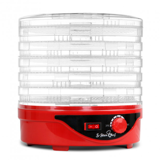 7 Tray Food Dehydrator - Red