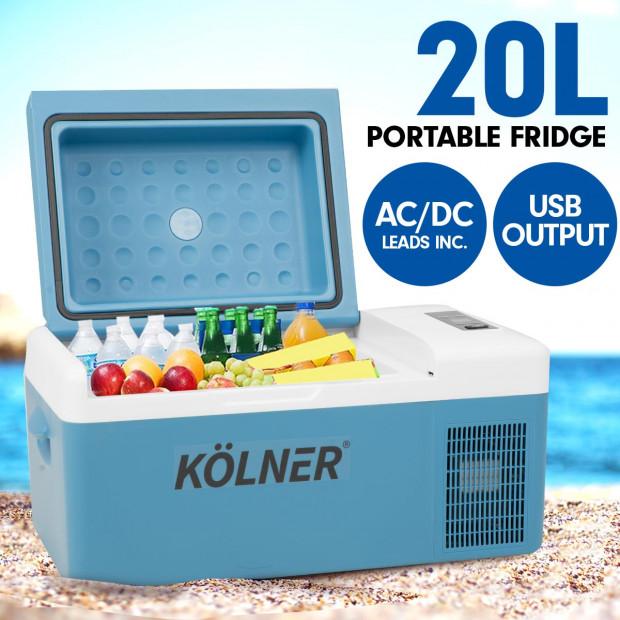 Kolner 20L Portable Fridge Cooler Freezer Camping Food Storage