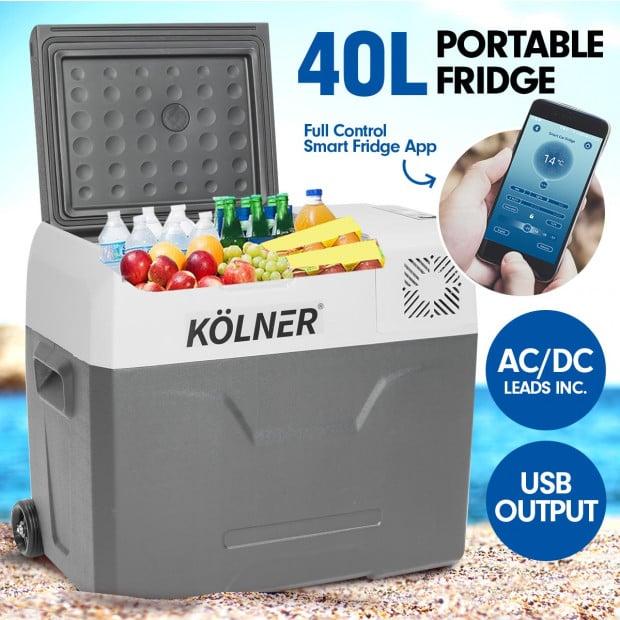 Kolner 40L Portable Fridge Cooler Freezer Camping Food Storage