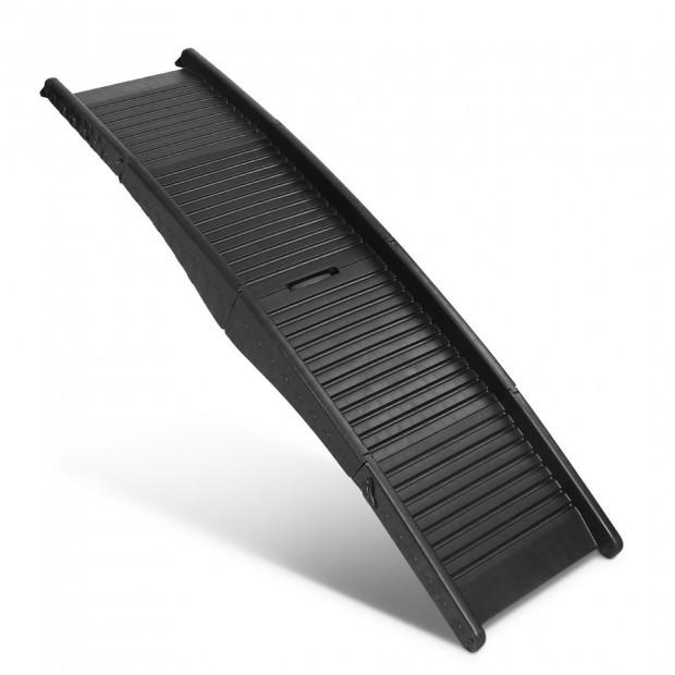 Portable Folding Pet Ramp for Cars - Black