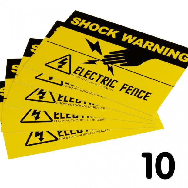 10 Electric fence warning signs