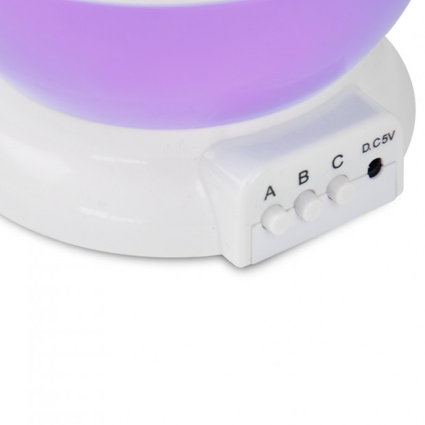 Star Moon Sky Stary Night Projector Light Lamp for Kids Bedroom Purple Image 4