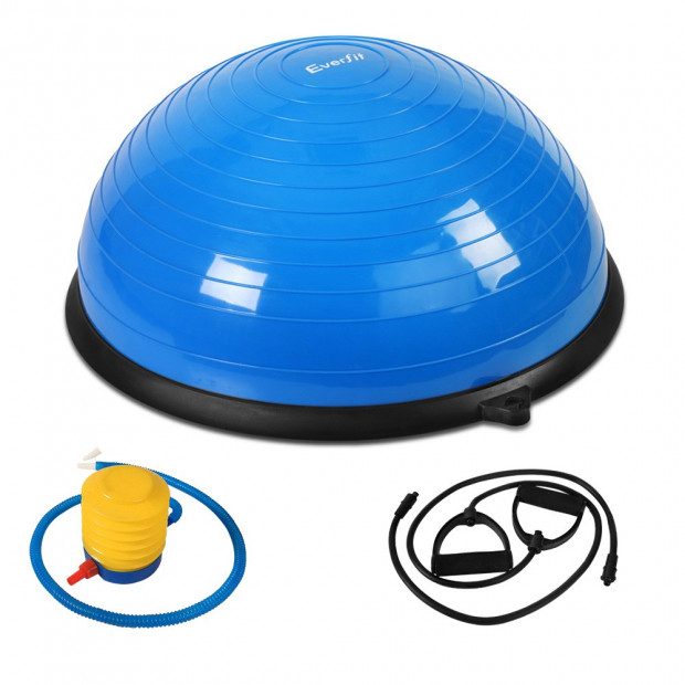 Balance Ball Trainer Fitness Yoga Gym Exercise Core Pilates Half Blue