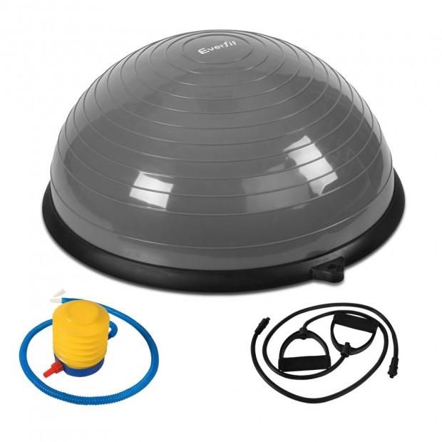 Balance Ball Trainer Fitness Yoga Gym Exercise Core Pilates Half Grey