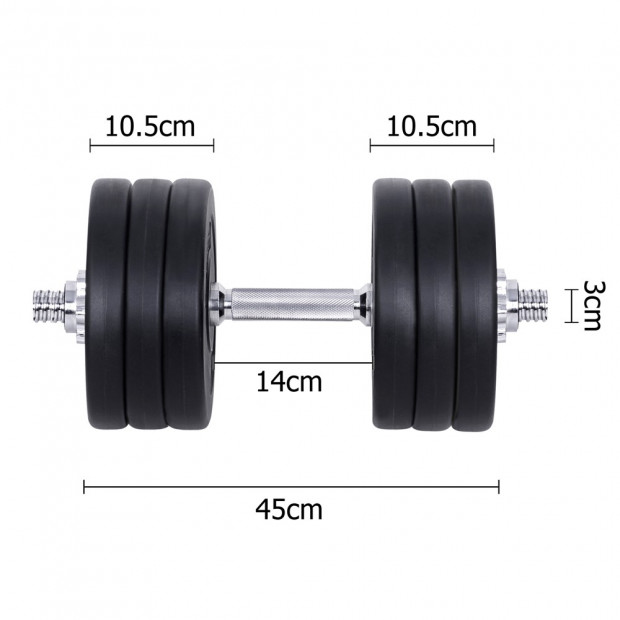 35kg Fitness Gym Exercise Dumbbell Set Image 1