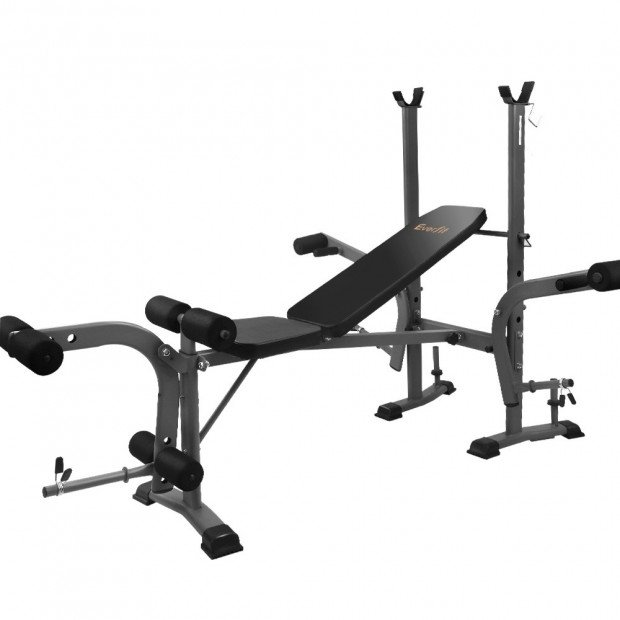 Multi Station Weight Bench Press Fitness Weights Equipment Black