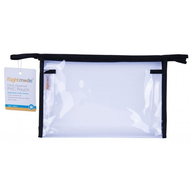 Transparent Clear Plastic Makeup Cosmetic Toiletry Pvc Zipped Bag