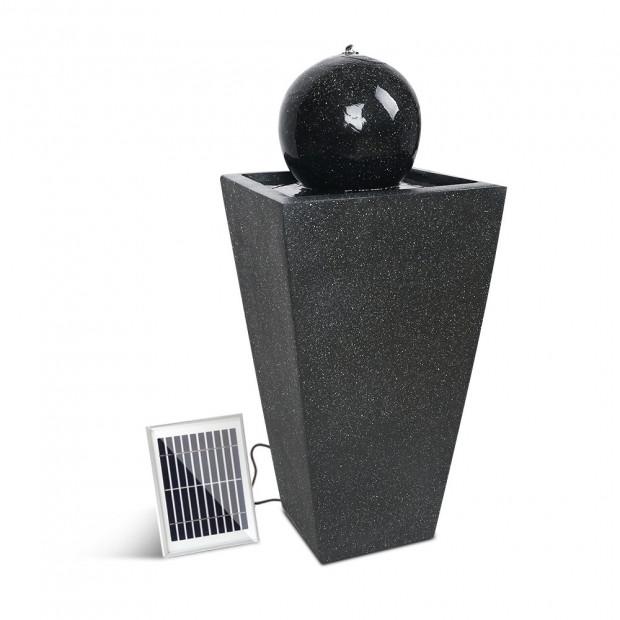 Solar Powered Water Fountain - Black