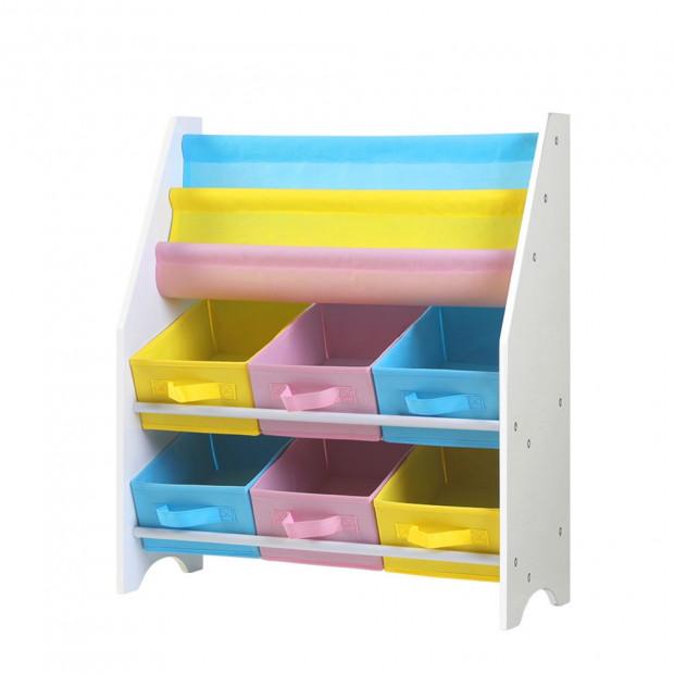 Kids Bookshelf Toy Storage Organizer Bookcase 2 Tiers