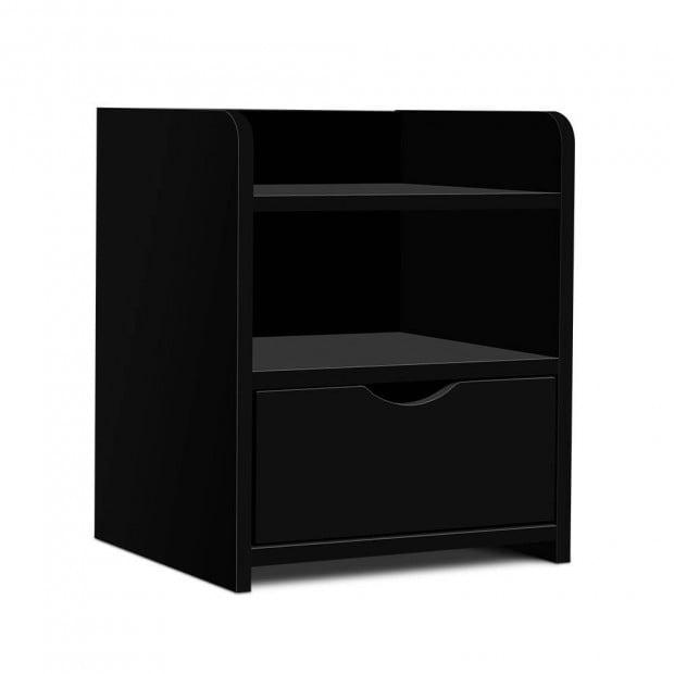 Bedside Table Drawer - Black