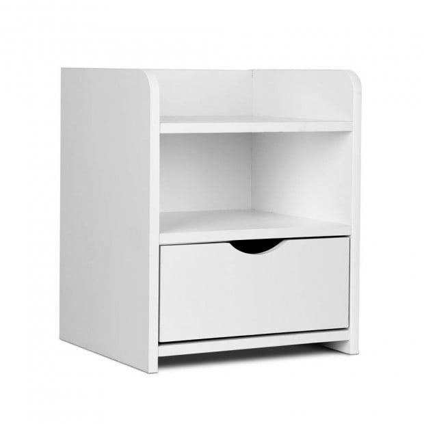 Bedside Table Drawer - White Image 1