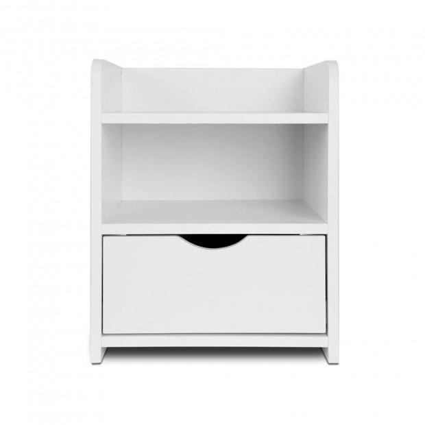Bedside Table Drawer - White Image 2