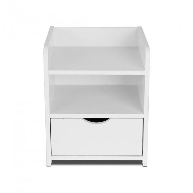 Bedside Table Drawer - White Image 3