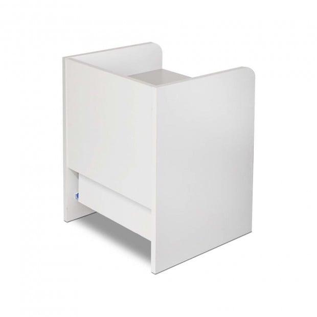 Bedside Table Drawer - White Image 4