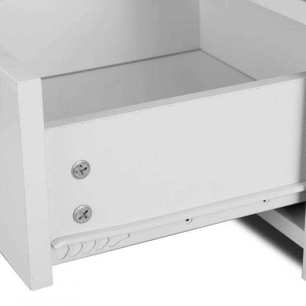 Bedside Table Drawer - White Image 6