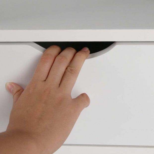 Bedside Table Drawer - White Image 7