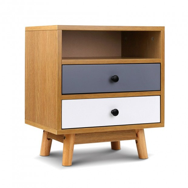 Wooden Beside Table Drawer - Natural