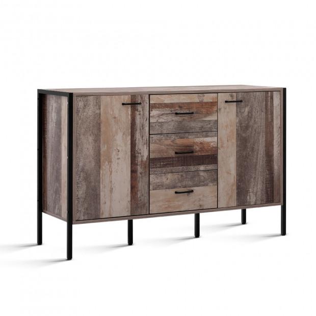 Buffet Sideboard Storage Cabinet Industrial Rustic Wooden