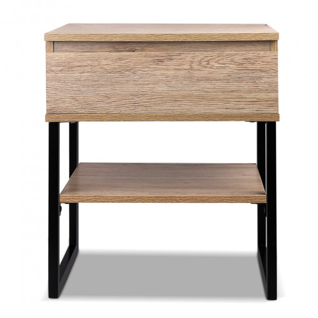 Artiss Chest Style Metal Bedside Table Image 2
