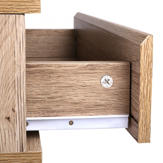 Artiss Chest Style Metal Bedside Table Image 5