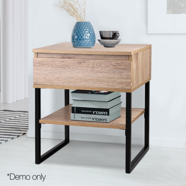 Artiss Chest Style Metal Bedside Table Image 7