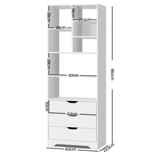 Artiss Display Drawer Shelf - White Image 1