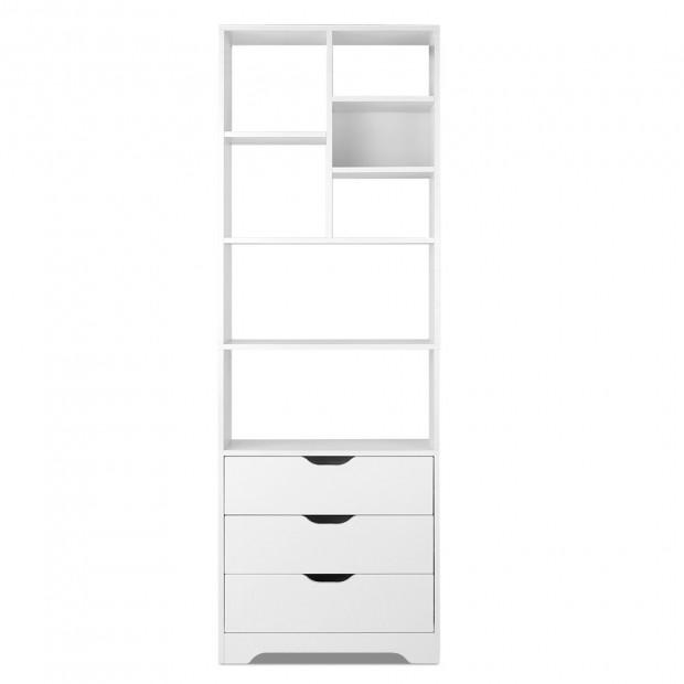 Artiss Display Drawer Shelf - White Image 2