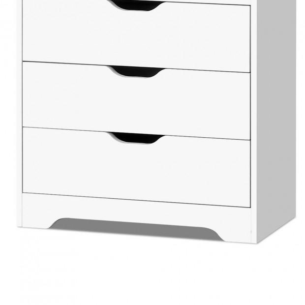 Artiss Display Drawer Shelf - White Image 4